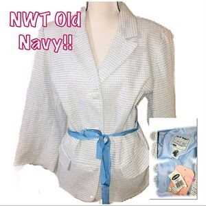 • OLD NAVY | NWT | Belted Ribbed Blazer •